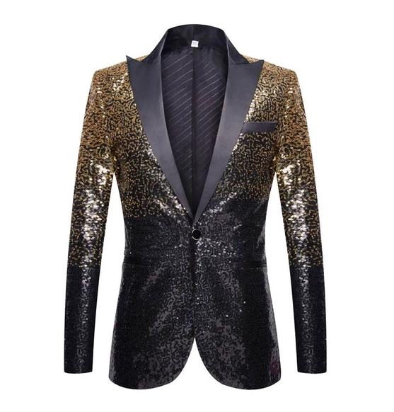 "The ""Bennett"" Sequin Slim Fit Blazer Suit Jacket William // David M"