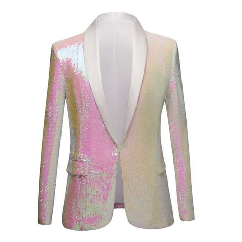 "The ""Pearl"" Sequin Slim Fit Blazer Suit Jacket William // David 3XL"