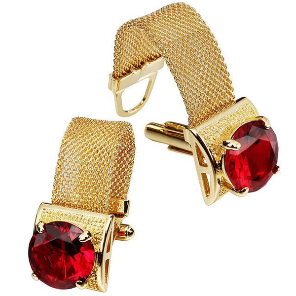 "The ""Luxe"" Chain Cuff Links - Multiple Colors William // David Red"