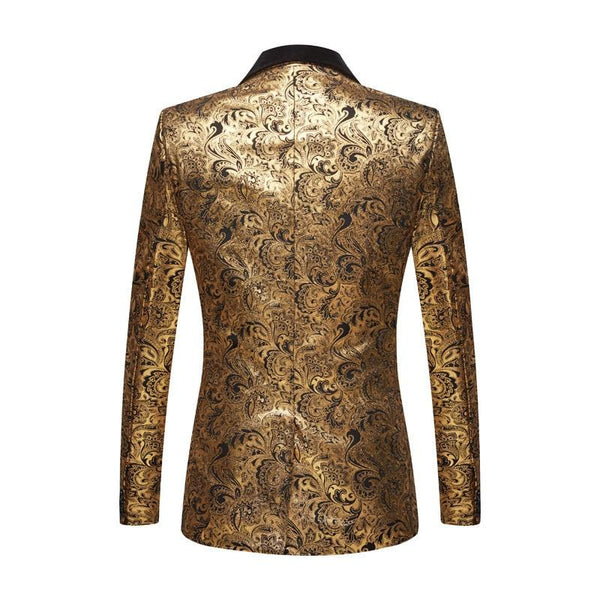 "The ""Stephan"" Two Piece Slim Fit Blazer Suit Jacket - Gold PYJTRL Official Store"