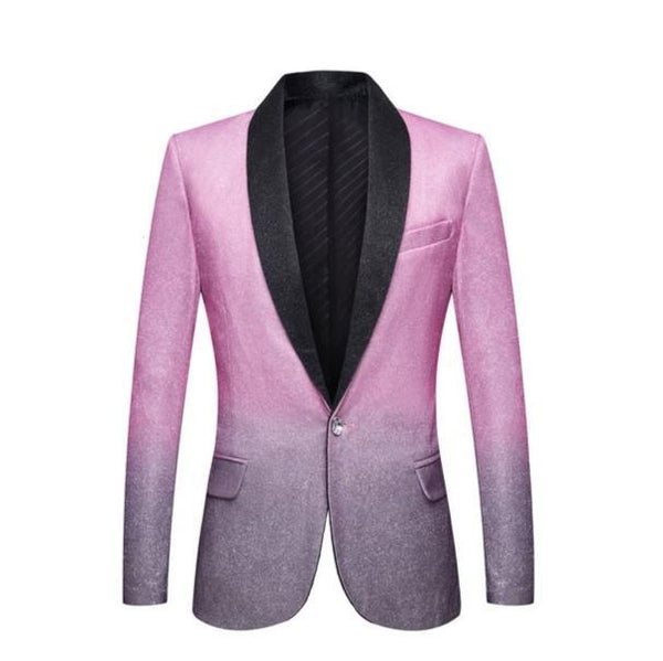 "The ""Duval"" Slim Fit Blazer Suit Jacket - Lilac William // David 3XL / 48R"