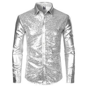 "The ""Ludwig"" Sequin Slim Fit Shirt - Multiple Colors William // David Sliver M"