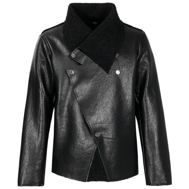 "The ""Octave"" Faux Leather Moto Jacket"