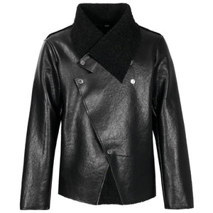 "The ""Octave"" Faux Leather Moto Jacket Dec'ple Store XL"