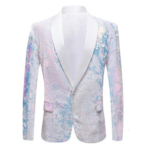 "The ""Angelo"" Sequin Slim Fit Blazer Suit Jacket William // David 3XL"