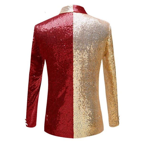 "The ""Frisco"" Sequin Slim Fit Blazer Suit Jacket - Scarlet William // David"