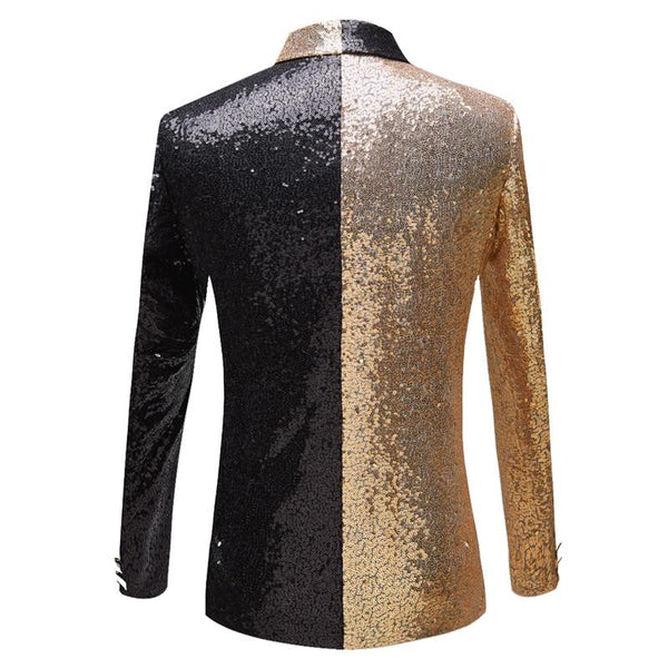 "The ""Frisco"" Sequin Slim Fit Blazer Suit Jacket - Black William // David"