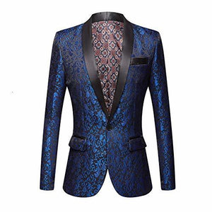 "The ""Talbot"" Slim Fit Blazer Suit Jacket - Cobalt William // David XS / 36R"
