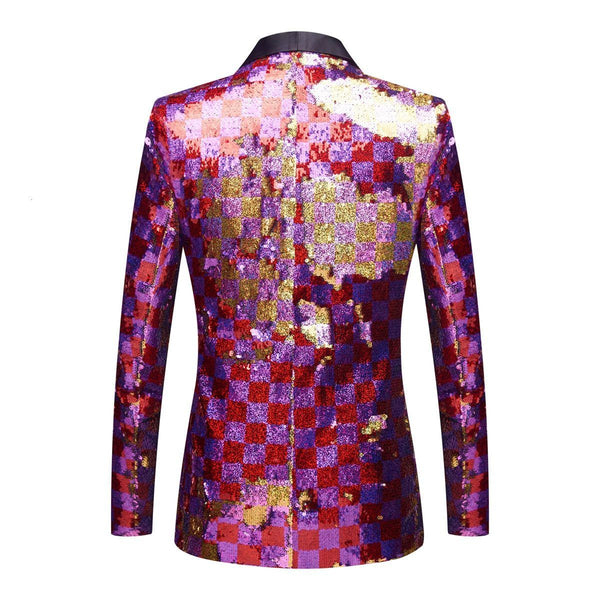 "The ""Eugene"" Sequin Slim Fit Blazer Suit Jacket William // David"