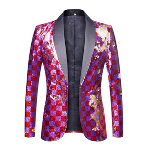 "The ""Eugene"" Sequin Slim Fit Blazer Suit Jacket William // David S"