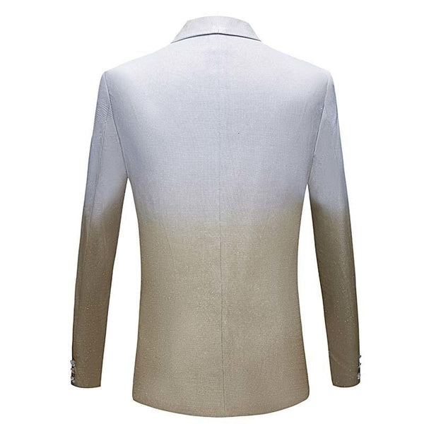 "The ""Duval"" Slim Fit Blazer Suit Jacket - Ivory William // David"