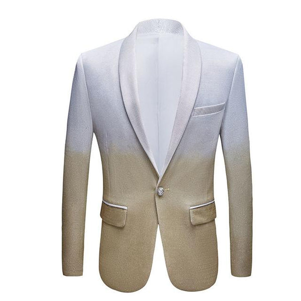 "The ""Duval"" Slim Fit Blazer Suit Jacket - Ivory William // David 2XL / 46R"
