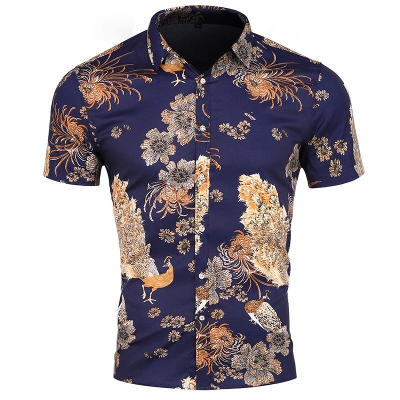 "The ""Peacock"" Short Sleeve Shirt William // David"