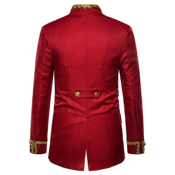 "The ""Normand"" Mandarin Collar Jacket - Ruby William // David"