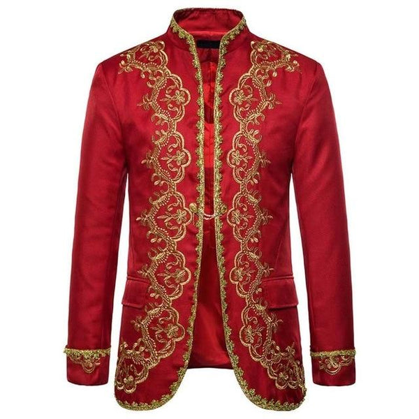"The ""Normand"" Mandarin Collar Jacket - Ruby William // David as shown 2 S China"