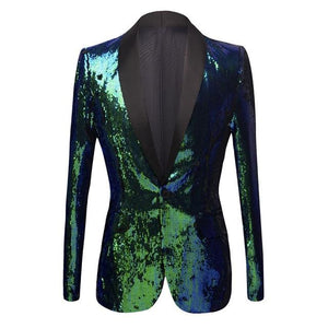 "The ""Mayberry"" Sequin Slim Fit Blazer Suit Jacket William // David picture color M / 40R"