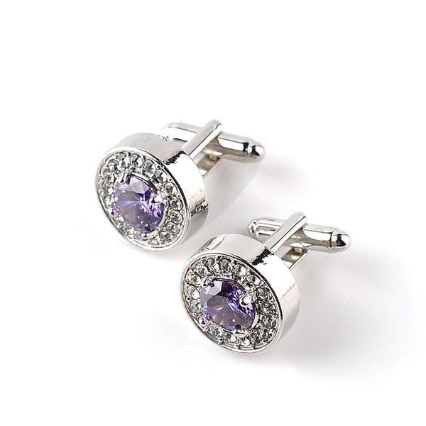 "The ""Maximus"" Luxury Cuff Links - Multiple Colors William // David Purple"