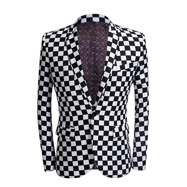 "The ""Micro Check"" Slim Fit Blazer Suit Jacket William // David"