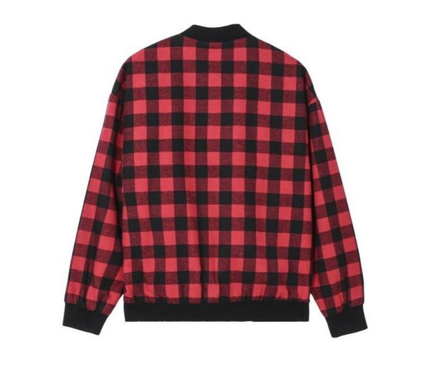 "The ""Hanley"" Plaid Bomber Jacket - Red William // David"