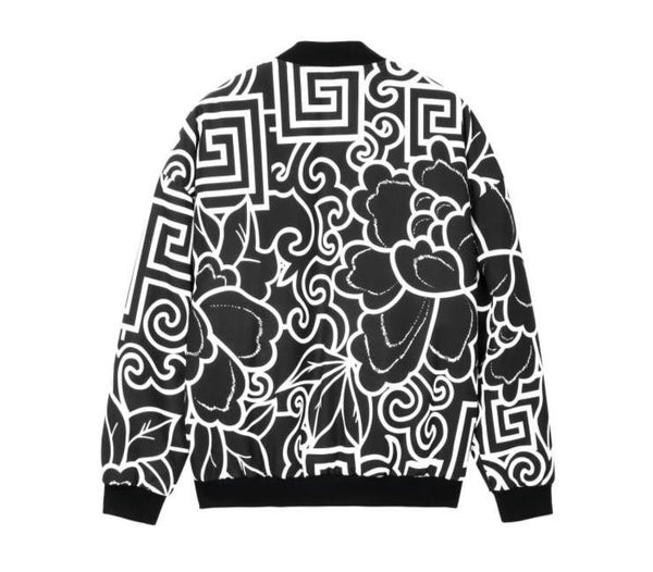 "The ""Geo"" Bomber Jacket - Black William // David"