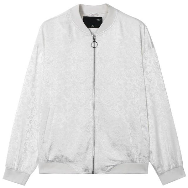"The ""Antonio"" Bomber Jacket - White William // David XS"