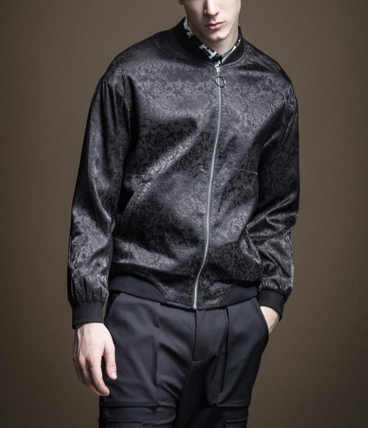 "The ""Antonio"" Bomber Jacket - Black William // David"