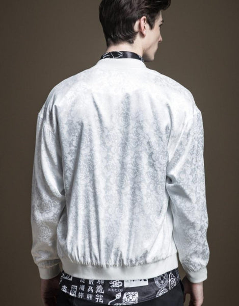 "The ""Antonio"" Bomber Jacket - White William // David"