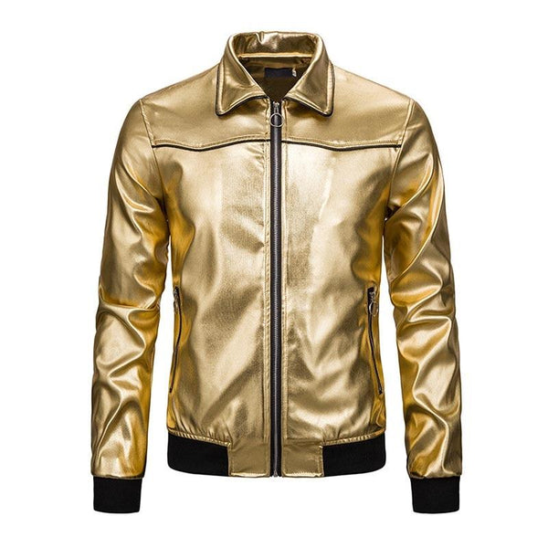 "The ""Manchester"" High Gloss Coaches Jacket - Multiple Colors William // David Gold S"