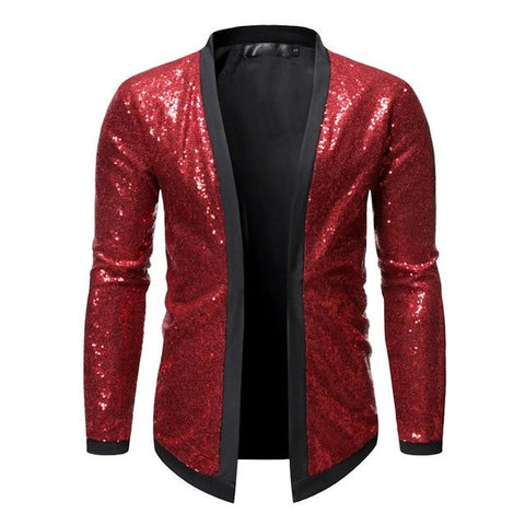 "The ""Crystal"" Sequin Cardigan Jacket - Multiple Colors William // David Red S"