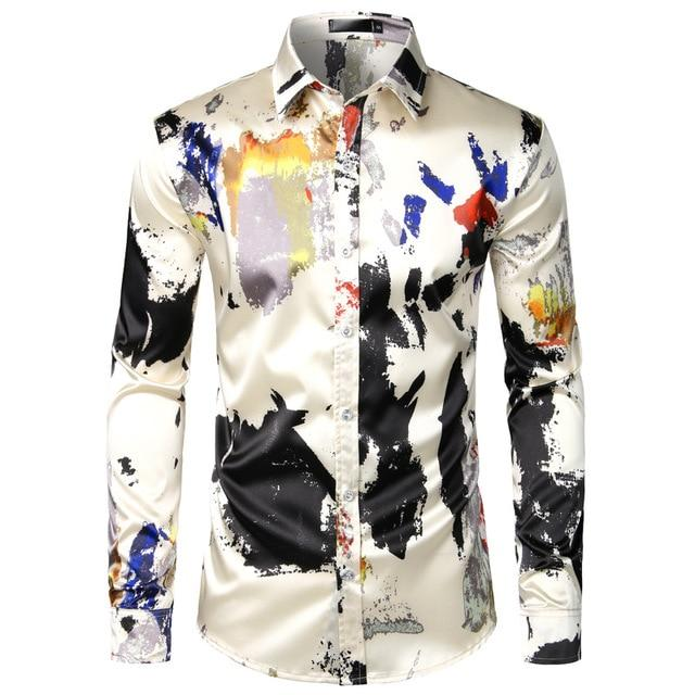 "The ""Abstract"" Long Sleeve Shirt William // David XXL"