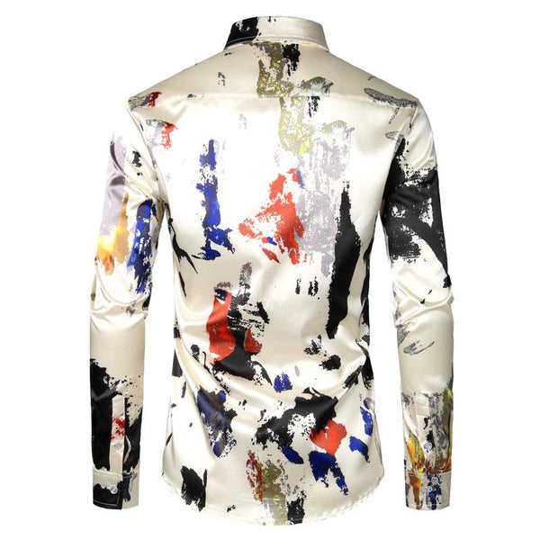 "The ""Abstract"" Long Sleeve Shirt William // David"