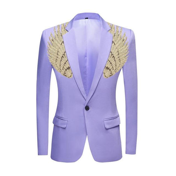 "The ""Cherub"" Slim Fit Blazer Suit Jacket - Lavender William // David Gold XXS 34R"