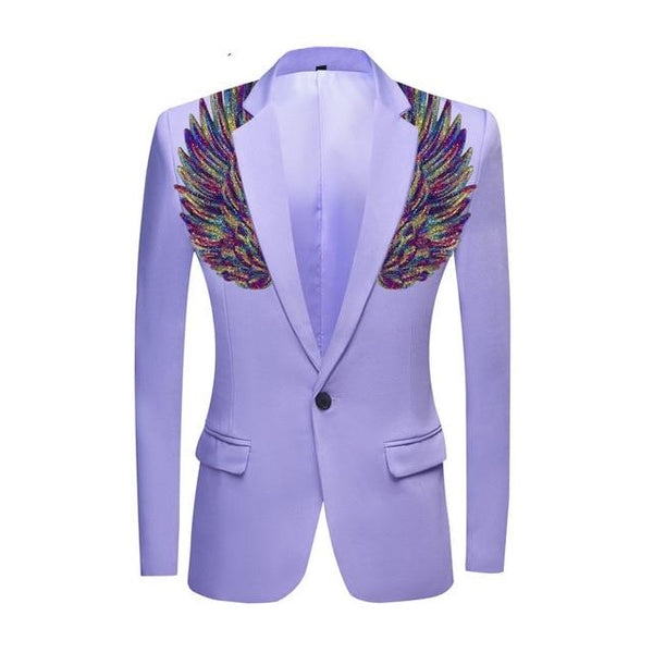 "The ""Cherub"" Slim Fit Blazer Suit Jacket - Lavender William // David Purple XXS 34R"