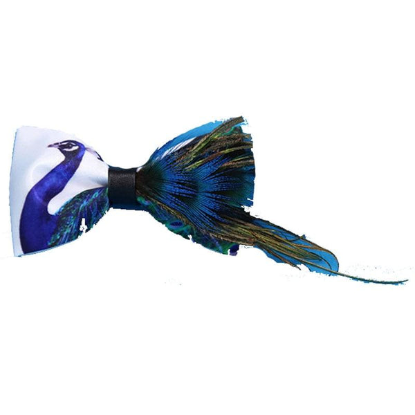 "The ""Peacock"" Luxury Handmade Bow Tie William // David"