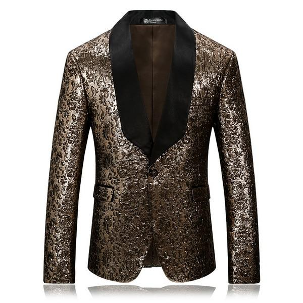 "The ""Princeton"" Gold Slim Fit Blazer Suit Jacket"