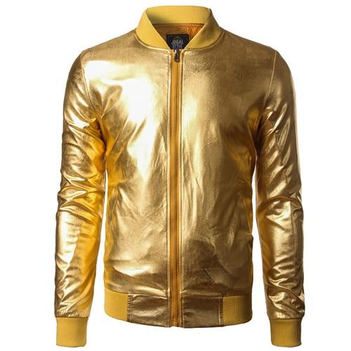 "The ""Giorgio"" High Gloss Bomber Jacket - Multiple Colors William // David Gold S"