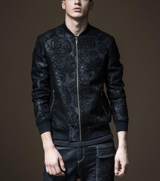 "The ""Rosa"" Jacquard Bomber Jacket william-david"