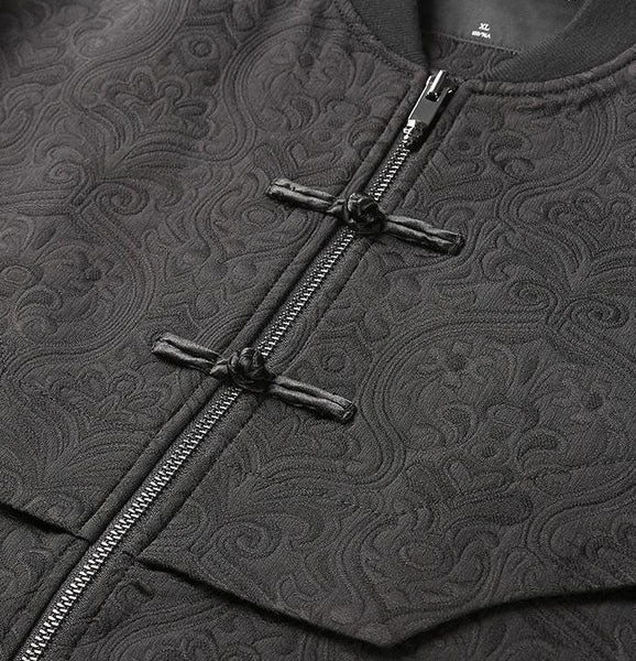 "The ""Tibet"" Jacquard Bomber Jacket"