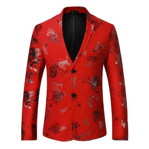 "The ""Chateau"" Slim Fit Blazer Suit Jacket - Crimson"