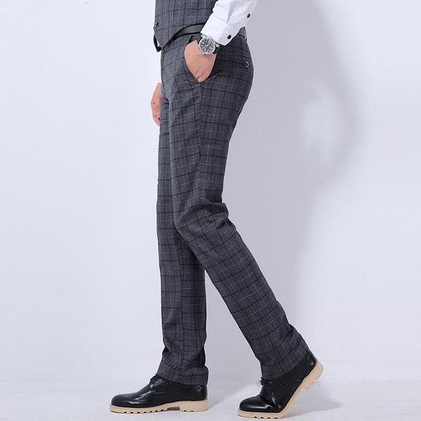 "The ""Henry"" Wool Plaid Modern Fit Suit Pants Trousers - Multiple Colors Shop3115081 Store"