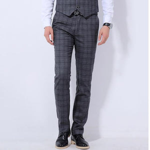 "The ""Henry"" Wool Plaid Modern Fit Suit Pants Trousers - Multiple Colors Shop3115081 Store Dark grey 28"