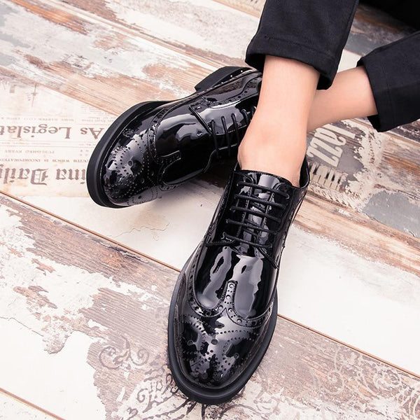 "The ""Manchester"" Patent Leather Oxford Dress Shoes - Multiple Colors"