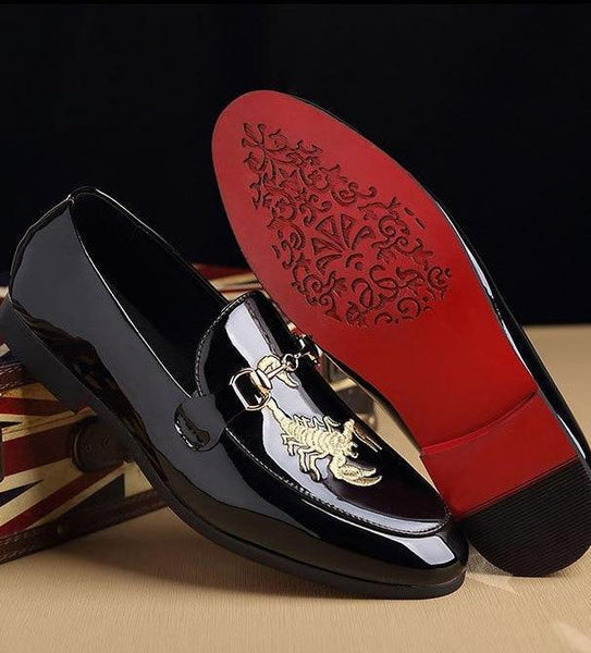"The ""Scorpio"" Patent Leather Penny Loafers"