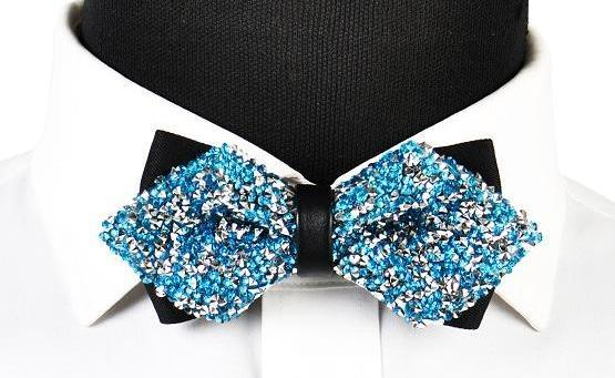 "The ""Luxe"" Crystal Bow Tie - Multiple Colors ciciTree Leading Store Teal"