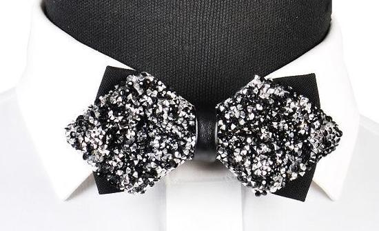 "The ""Luxe"" Crystal Bow Tie - Multiple Colors ciciTree Leading Store Black/Silver"
