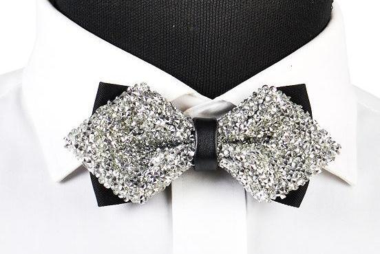 "The ""Luxe"" Crystal Bow Tie - Multiple Colors ciciTree Leading Store Silver"