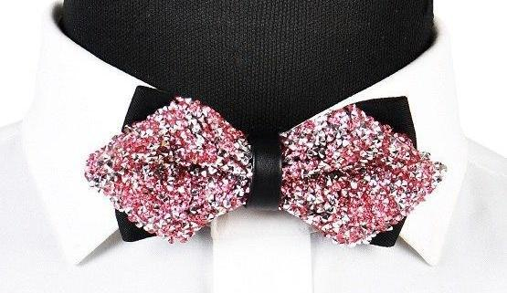 "The ""Luxe"" Crystal Bow Tie - Multiple Colors ciciTree Leading Store Pink"