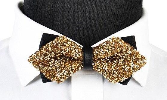 "The ""Luxe"" Crystal Bow Tie - Multiple Colors ciciTree Leading Store Gold"
