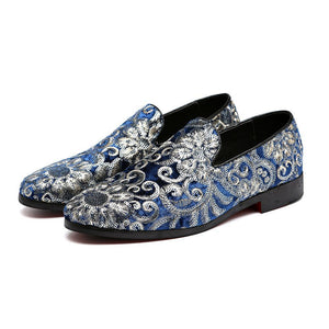 "The ""Caesar"" Suede Embroidered Loafers - Multiple Colors"