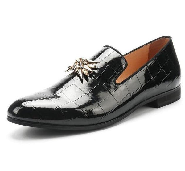"The ""Francois"" Patent Leather Slip-On Loafers - Multiple Colors William // David Black EU 44 / US 11"